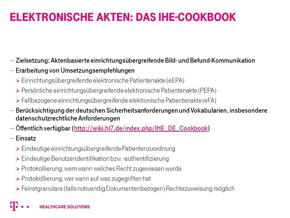 Elektronische Akten: das IHE-Cookbook