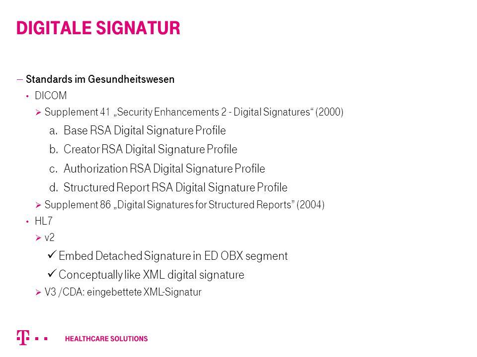Digitale SiGnatur Base RSA Digital Signature Profile