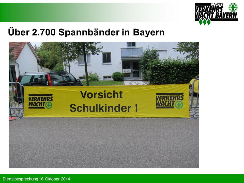 Über 2.700 Spannbänder in Bayern