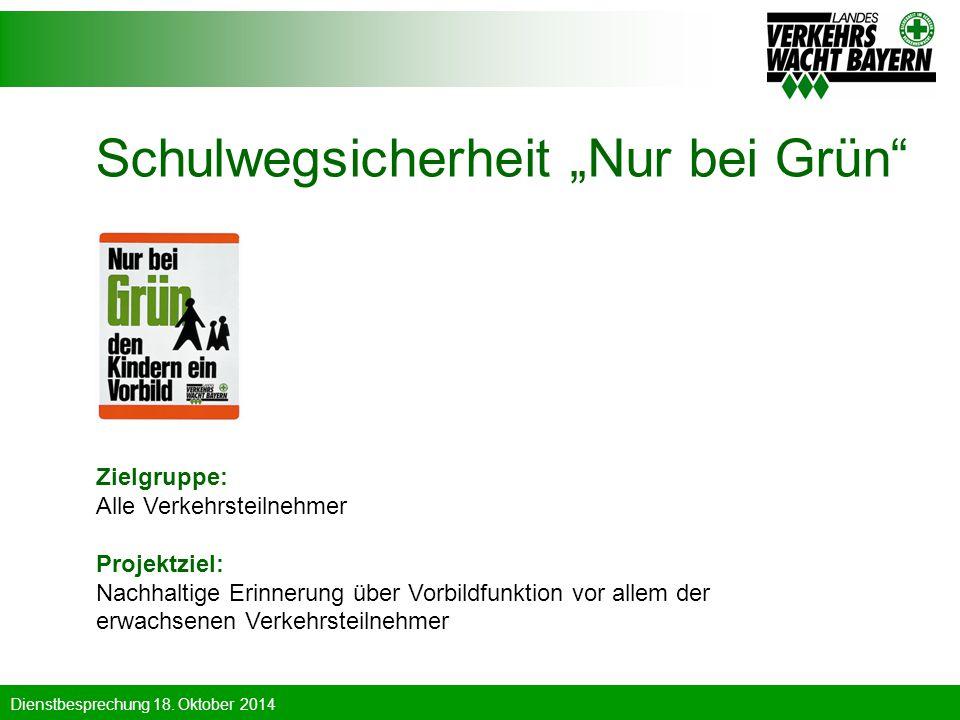 """Schulwegsicherheit """"Nur bei Grün"""