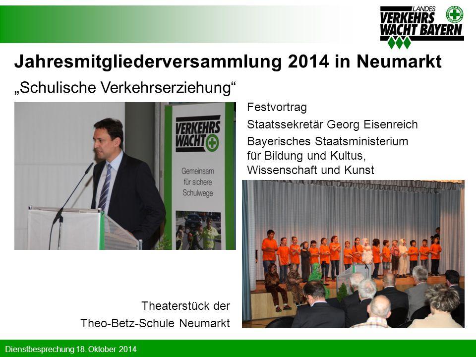 Jahresmitgliederversammlung 2014 in Neumarkt