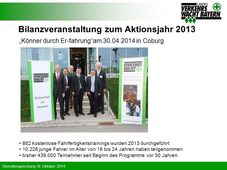 Bilanzveranstaltung zum Aktionsjahr 2013