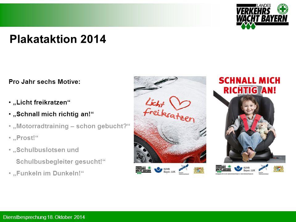 """Plakataktion 2014 Pro Jahr sechs Motive: """"Licht freikratzen"""
