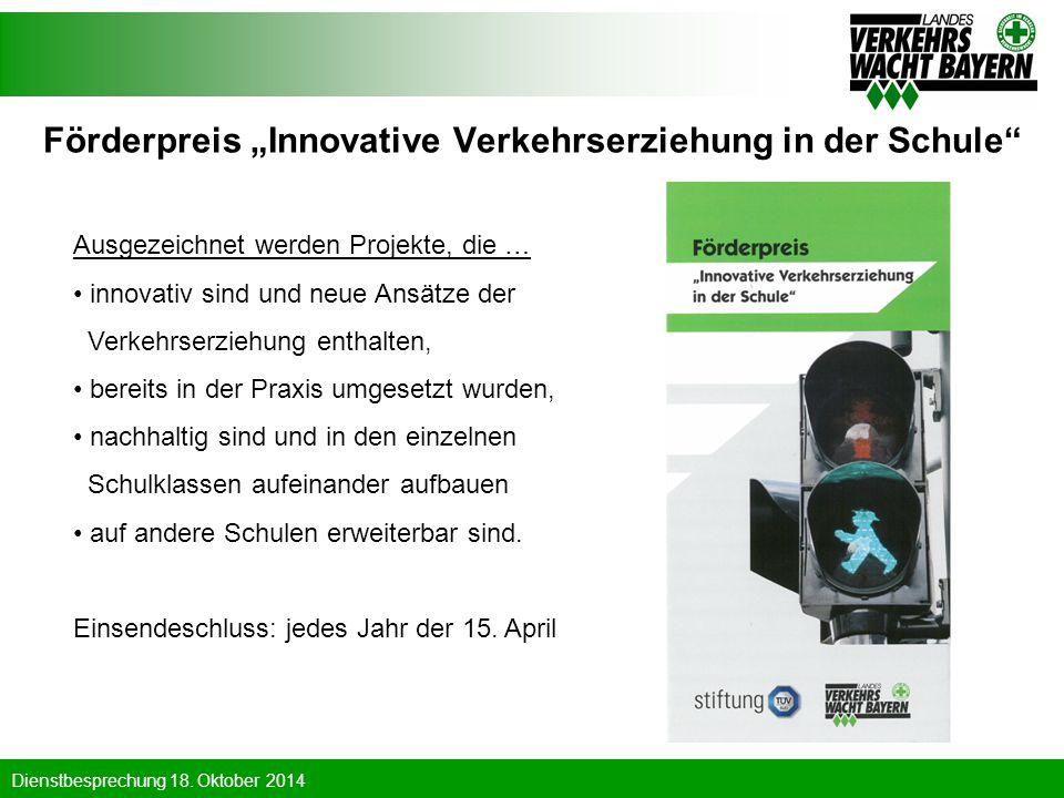 "Förderpreis ""Innovative Verkehrserziehung in der Schule"