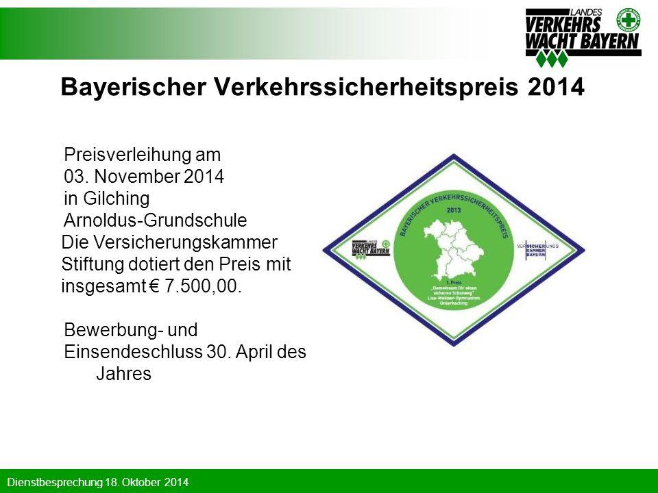 Bayerischer Verkehrssicherheitspreis 2014