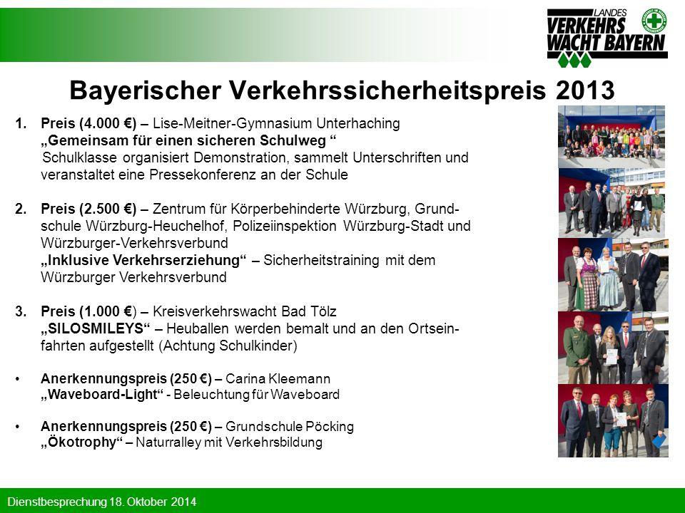 Bayerischer Verkehrssicherheitspreis 2013