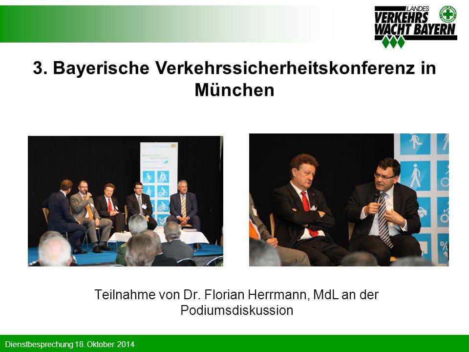 3. Bayerische Verkehrssicherheitskonferenz in München