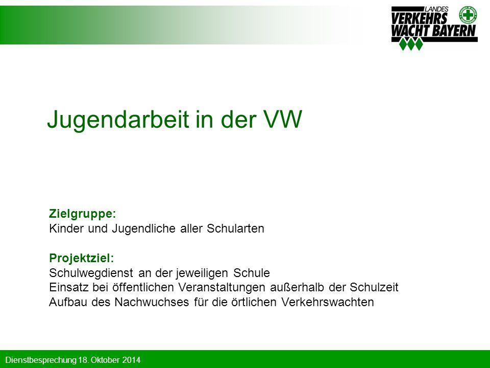 Jugendarbeit in der VW Zielgruppe: