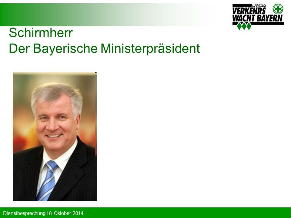 Schirmherr Der Bayerische Ministerpräsident