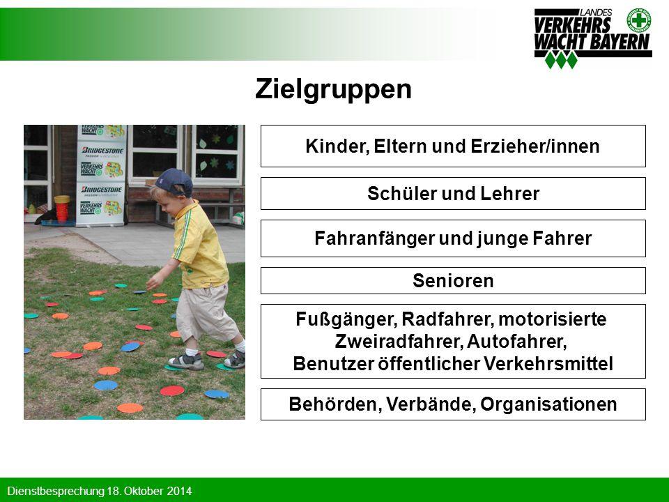 Zielgruppen Kinder, Eltern und Erzieher/innen Schüler und Lehrer
