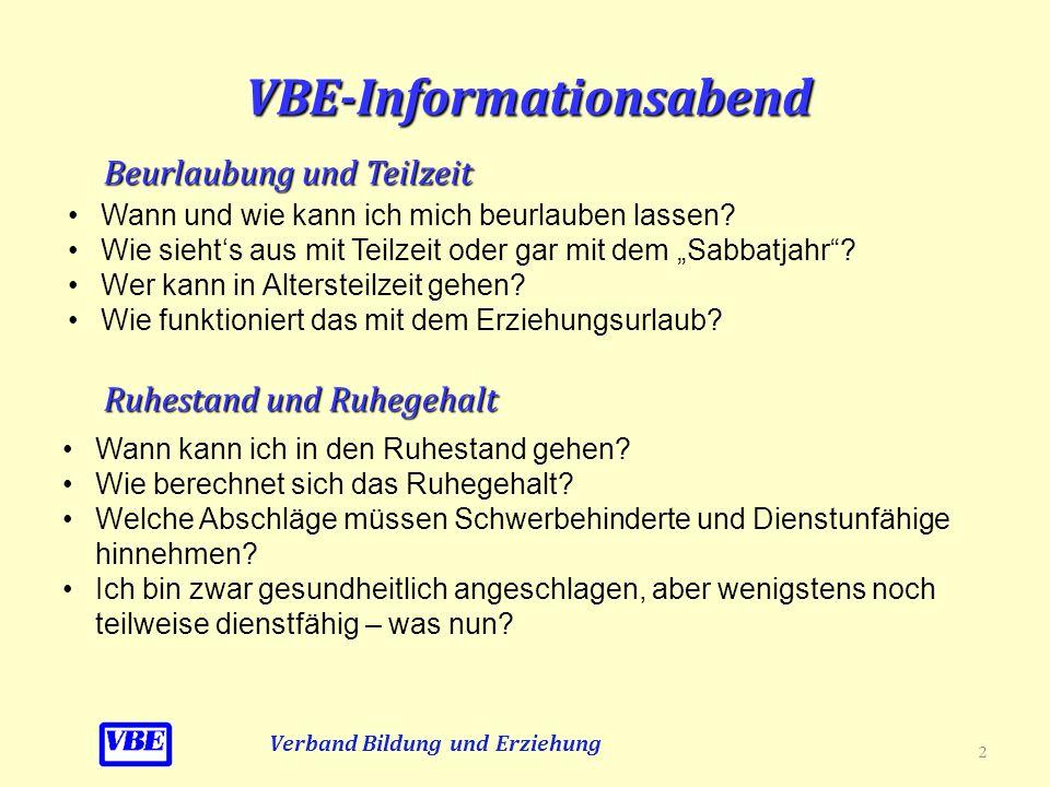 VBE-Informationsabend