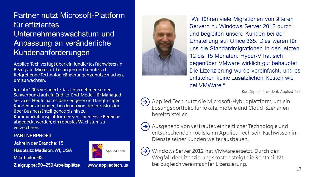 Partner nutzt Microsoft-Plattform für effizientes Unternehmenswachstum und Anpassung an veränderliche Kundenanforderungen