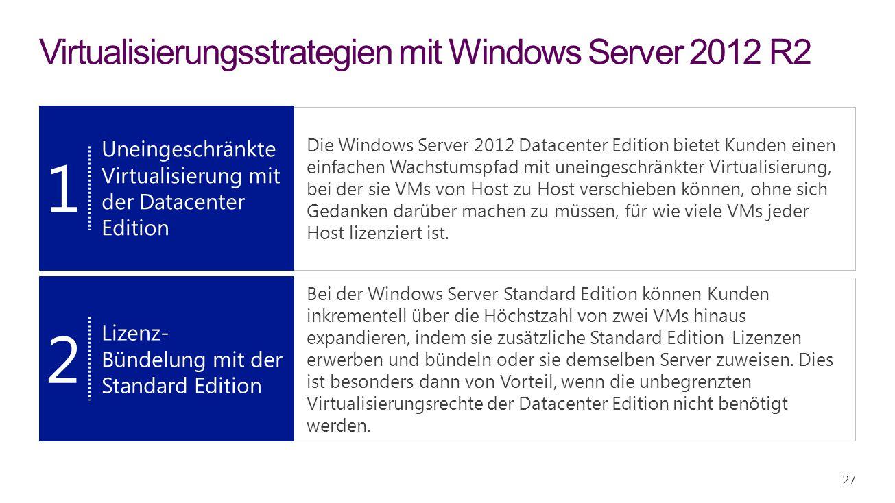 Virtualisierungsstrategien mit Windows Server 2012 R2