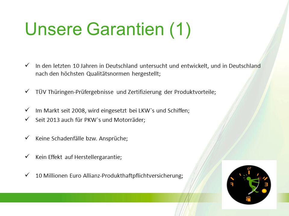Unsere Garantien (1)