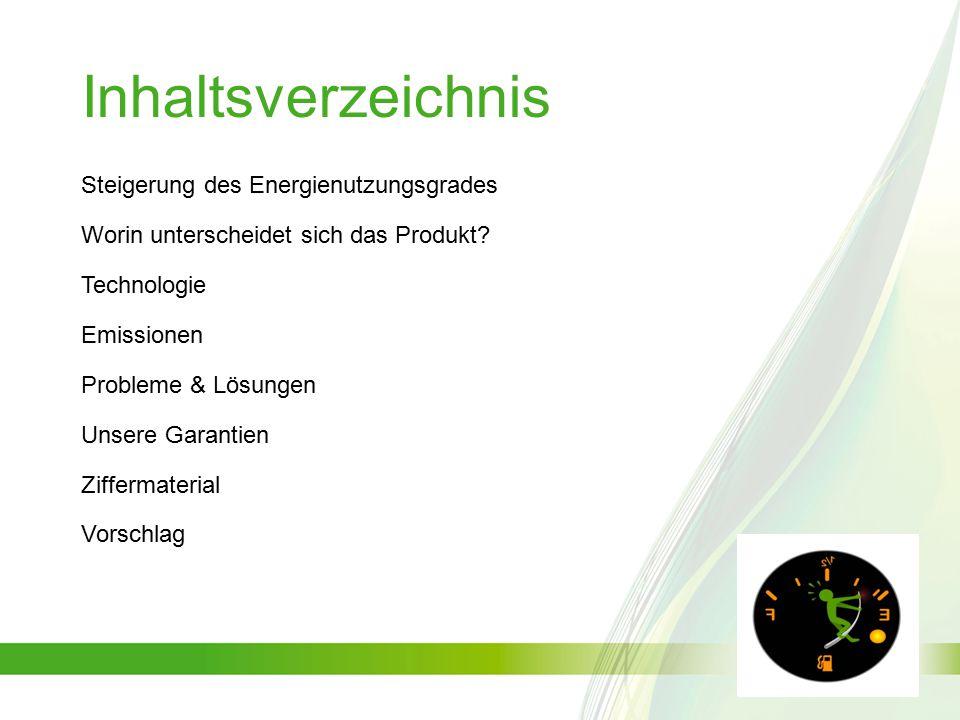 Inhaltsverzeichnis Steigerung des Energienutzungsgrades