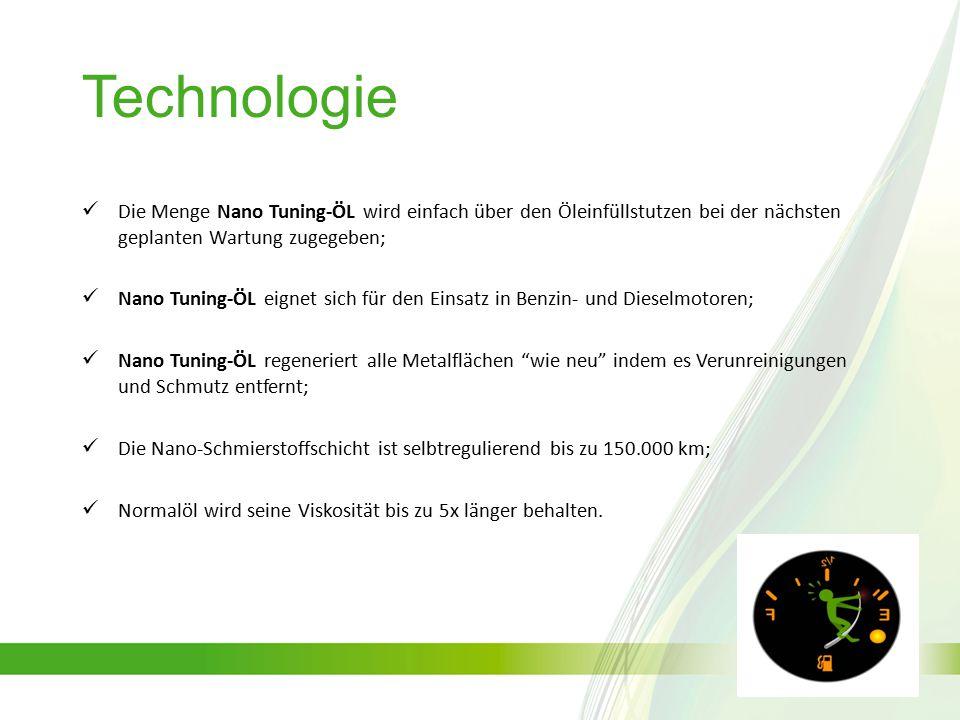 Technologie Die Menge Nano Tuning-ÖL wird einfach über den Öleinfüllstutzen bei der nächsten geplanten Wartung zugegeben;