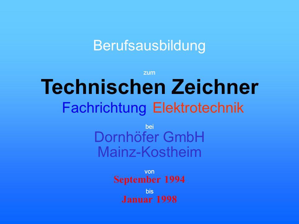 Technischen Zeichner Berufsausbildung Fachrichtung Elektrotechnik