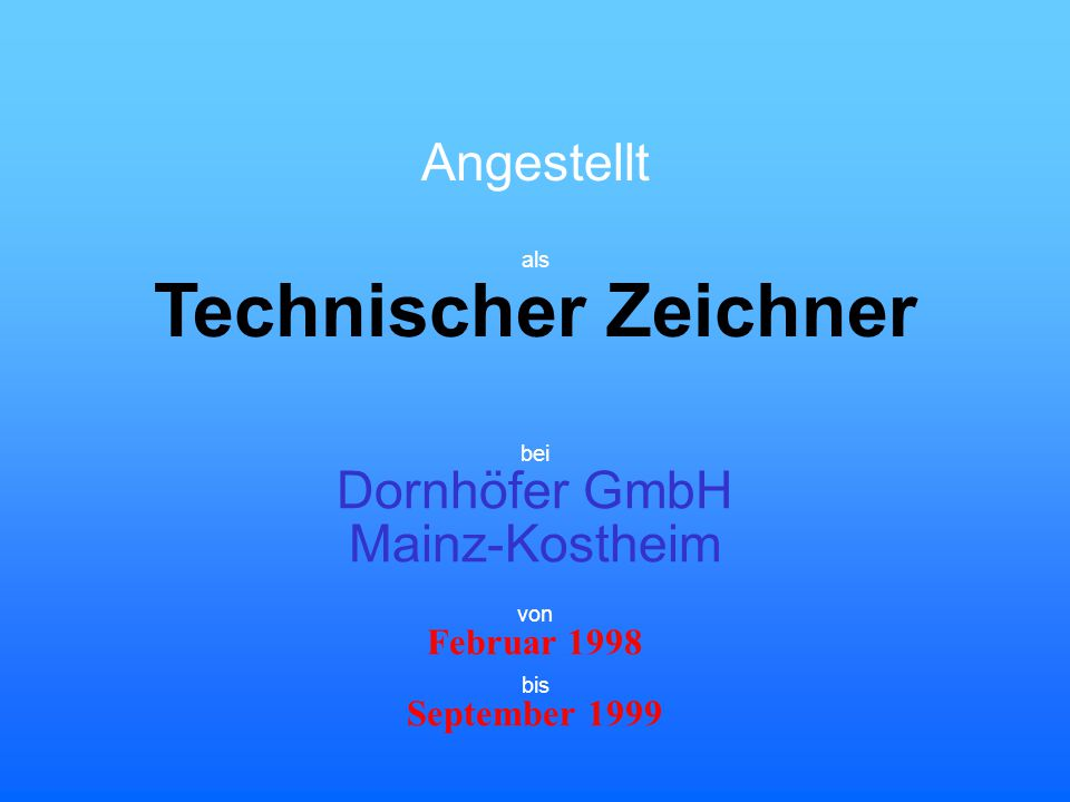 Technischer Zeichner Angestellt Dornhöfer GmbH Mainz-Kostheim