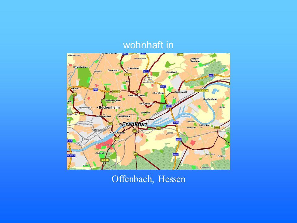 wohnhaft in Offenbach, Hessen