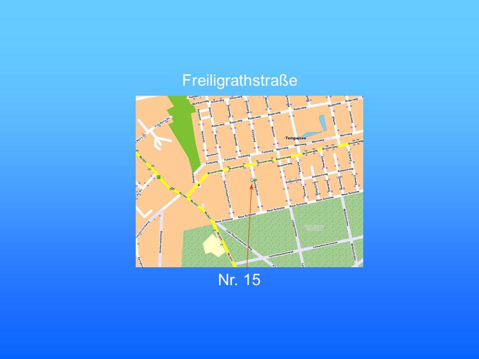 Freiligrathstraße Nr. 15