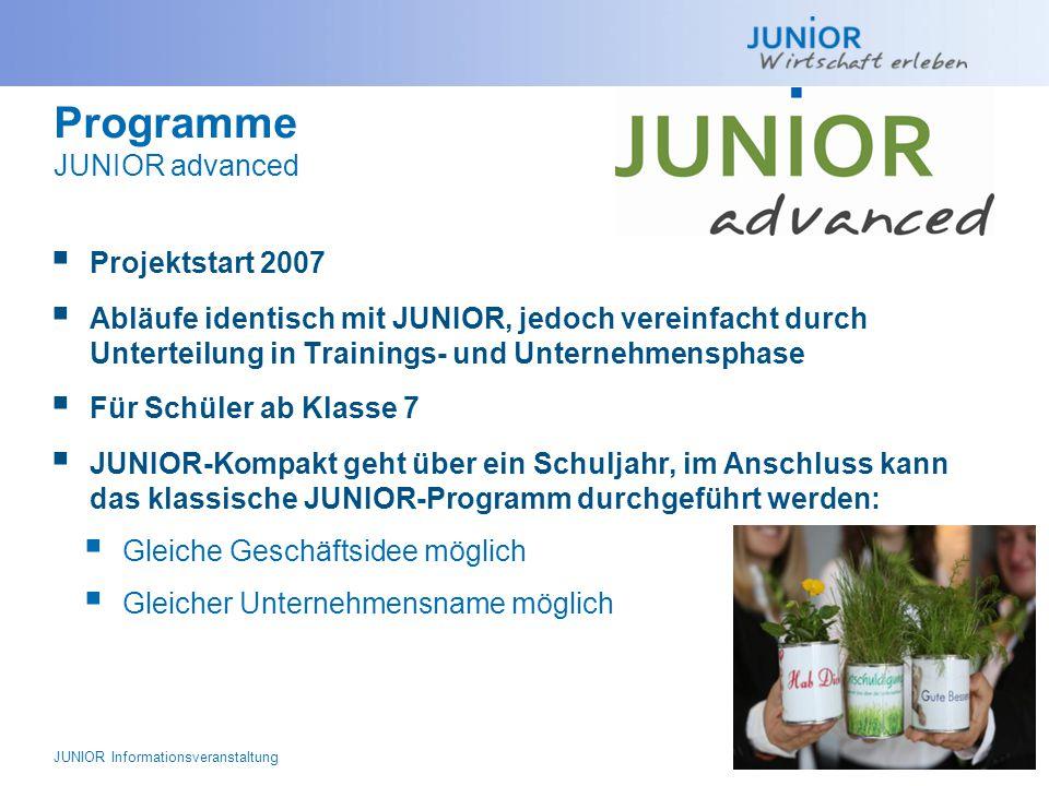 Programme JUNIOR advanced
