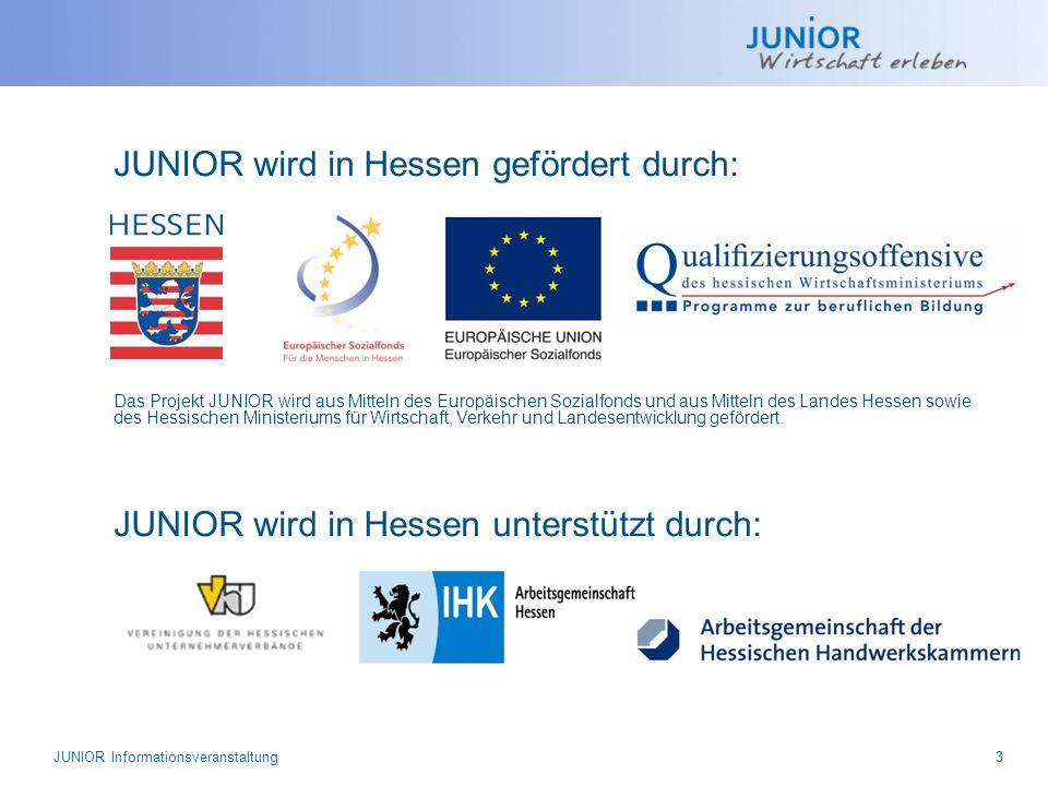JUNIOR wird in Hessen gefördert durch: