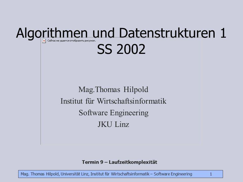 Algorithmen und Datenstrukturen 1 SS 2002