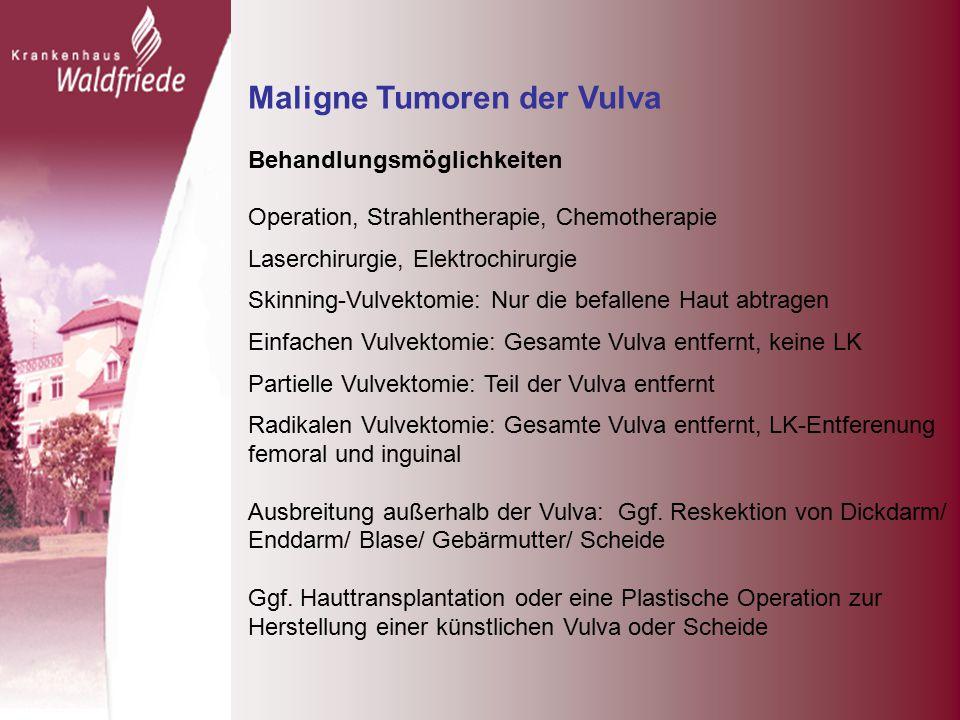 Maligne Tumoren der Vulva