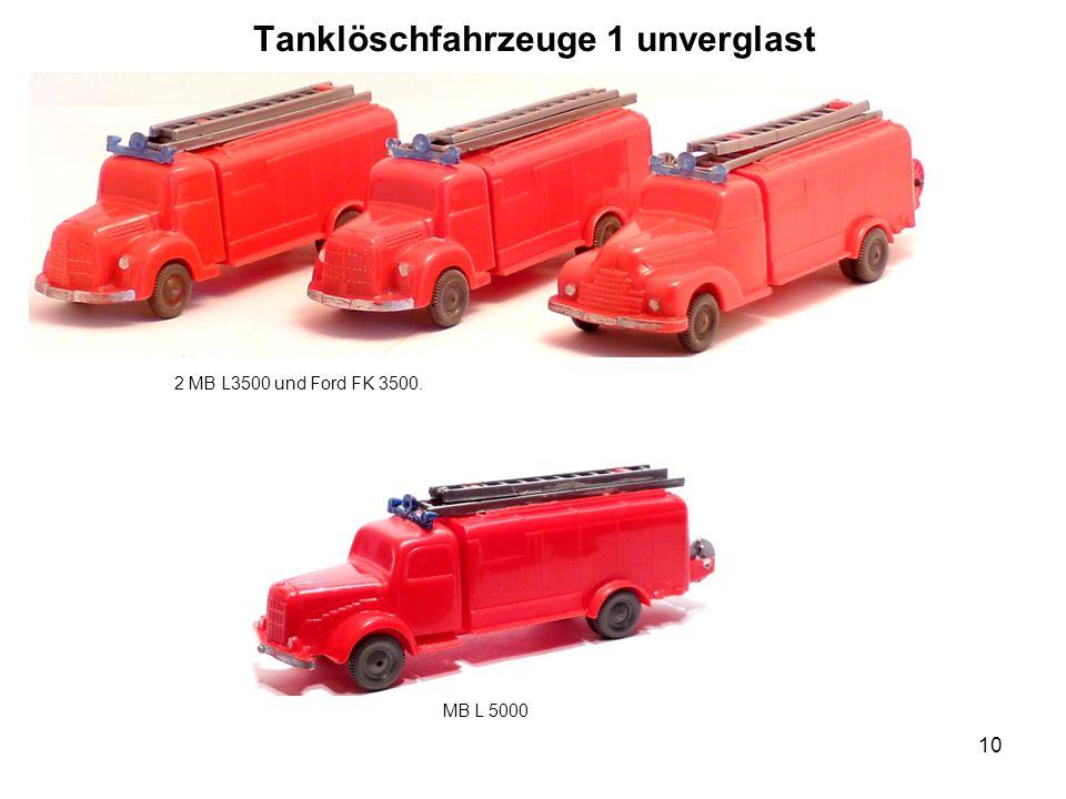 Tanklöschfahrzeuge 1 unverglast