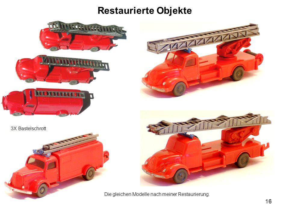 Restaurierte Objekte 3X Bastelschrott