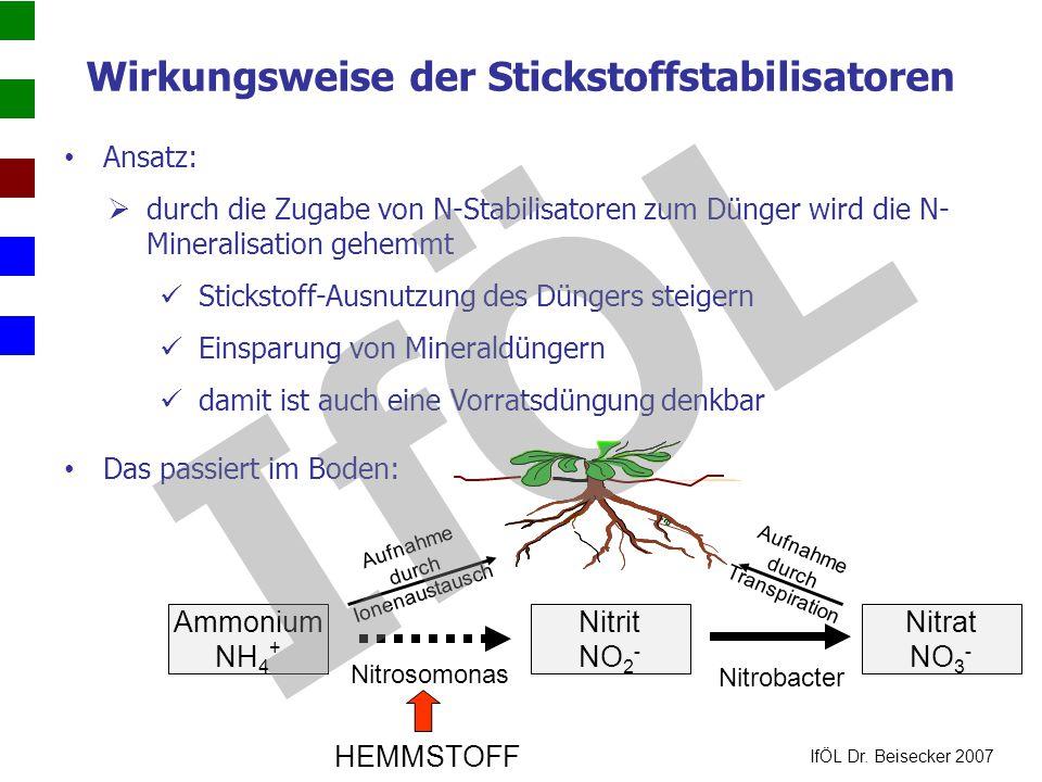 Wirkungsweise der Stickstoffstabilisatoren