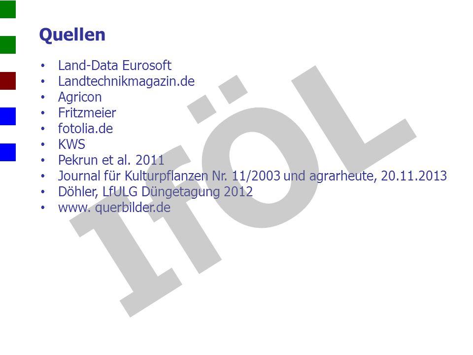 IfÖL Quellen Land-Data Eurosoft Landtechnikmagazin.de Agricon