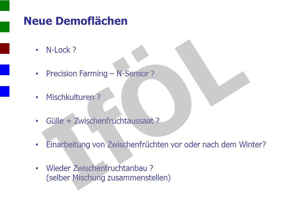 IfÖL Neue Demoflächen N-Lock Precision Farming – N-Sensor