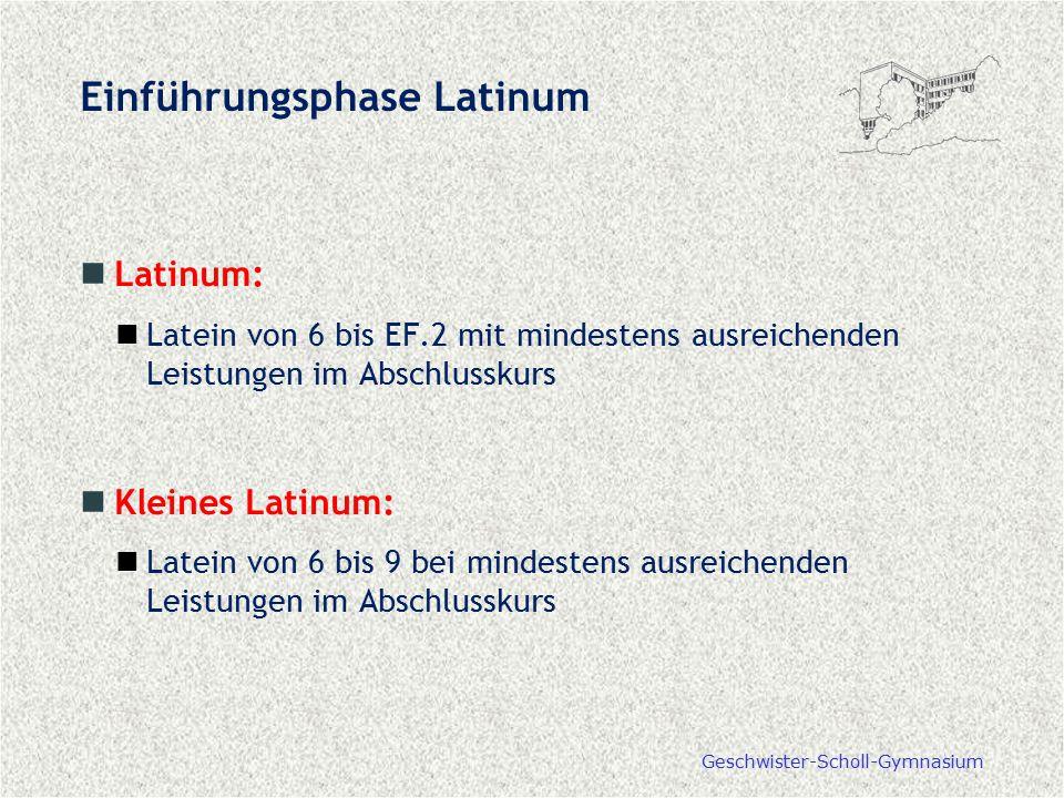Einführungsphase Latinum