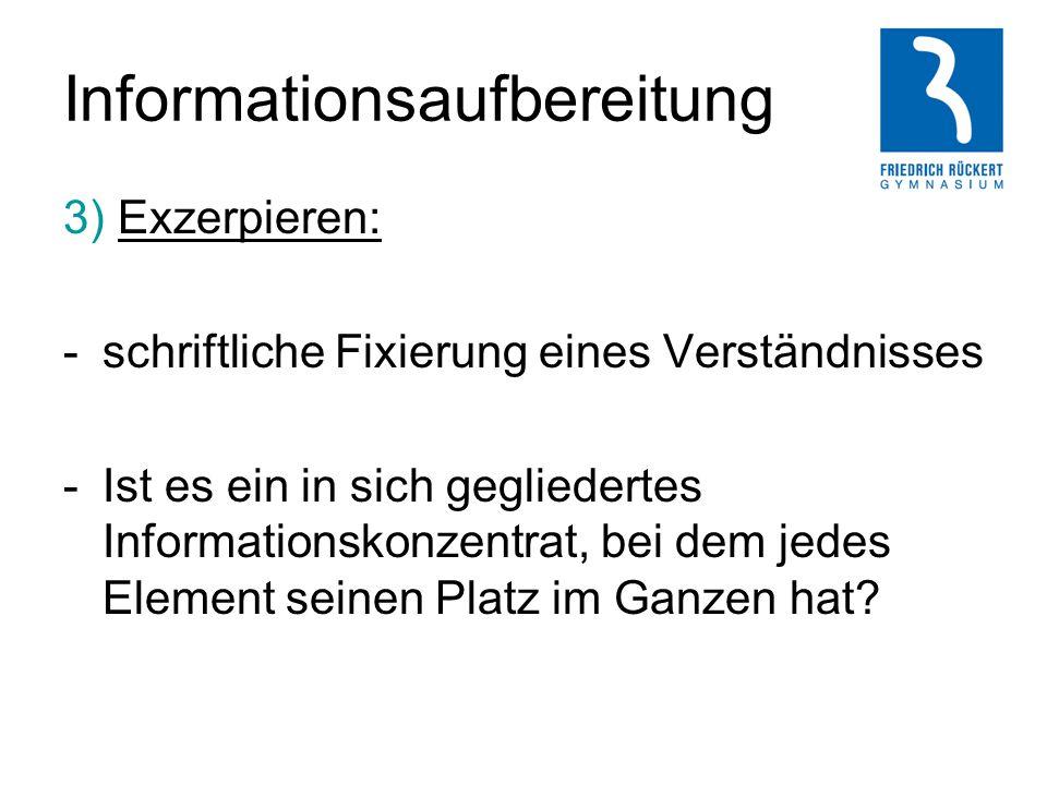 Informationsaufbereitung