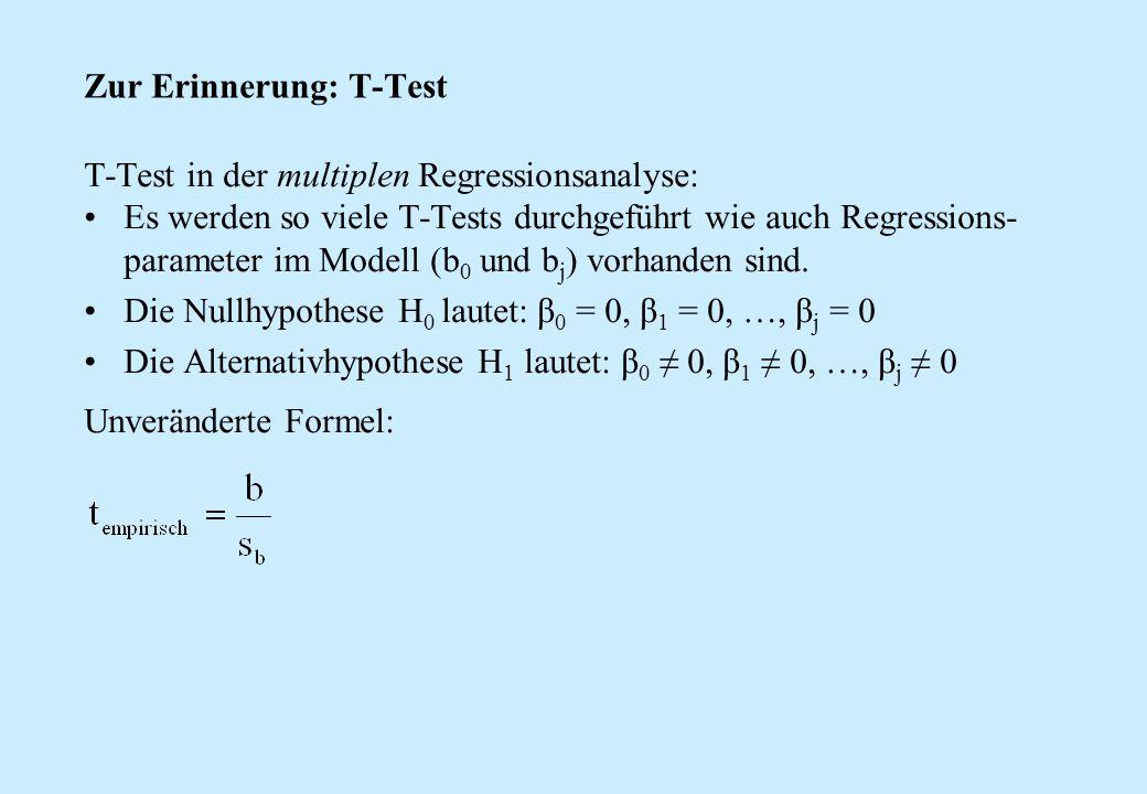 Zur Erinnerung: T-Test