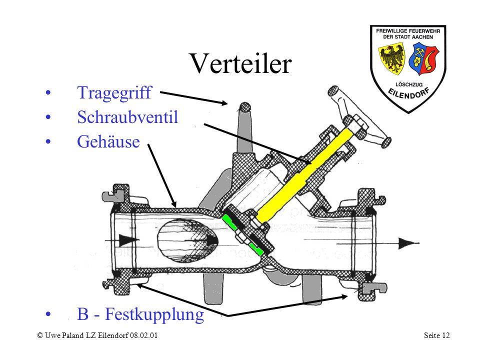 Verteiler Tragegriff Schraubventil Gehäuse B - Festkupplung