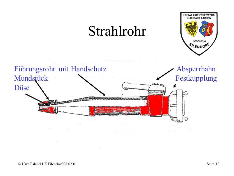 Strahlrohr Führungsrohr mit Handschutz Mundstück Düse Absperrhahn