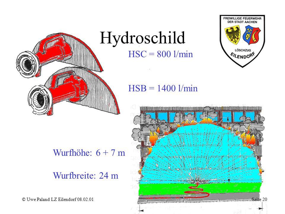 Hydroschild HSC = 800 l/min HSB = 1400 l/min Wurfhöhe: 6 + 7 m