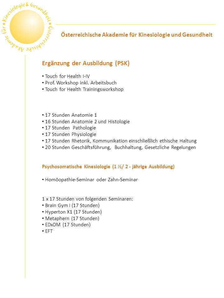 Ergänzung der Ausbildung (PSK)