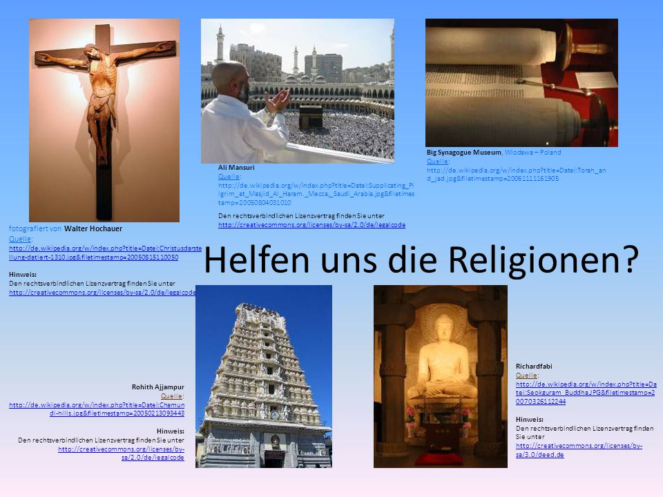 Helfen uns die Religionen