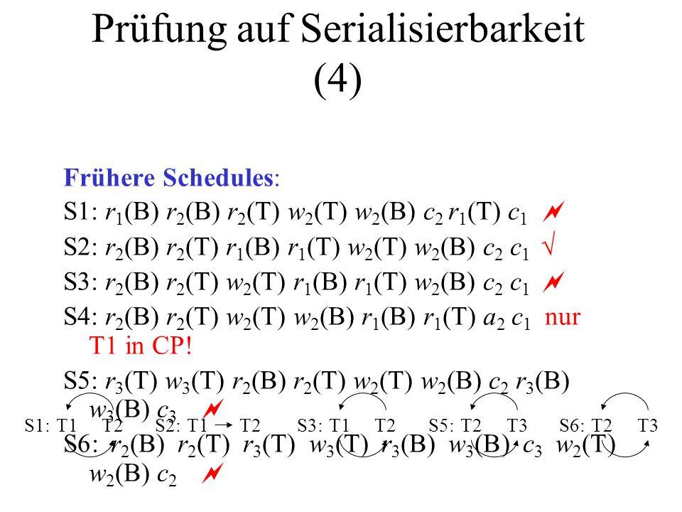 Prüfung auf Serialisierbarkeit (4)