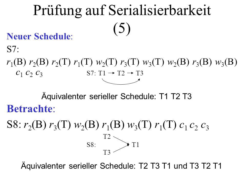 Prüfung auf Serialisierbarkeit (5)