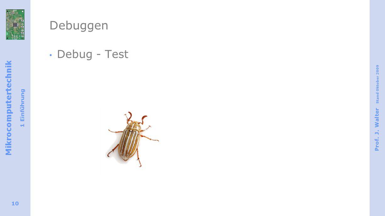 Debuggen Debug - Test.