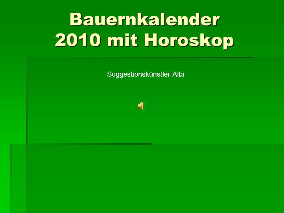 Bauernkalender 2010 mit Horoskop
