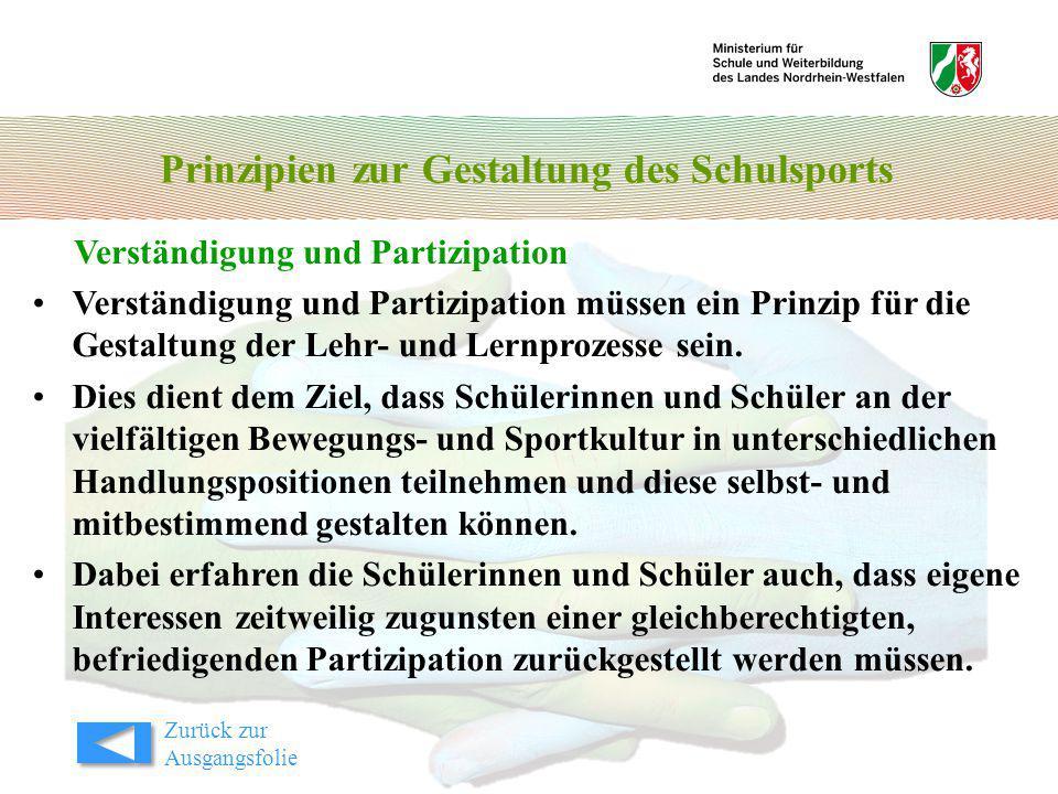 Prinzipien zur Gestaltung des Schulsports