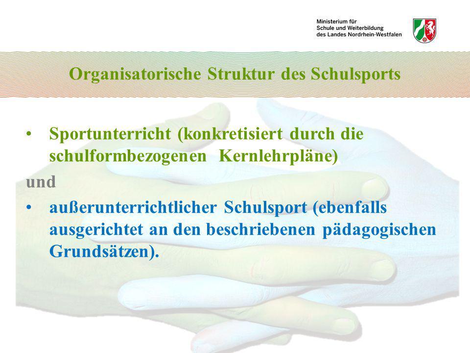 Organisatorische Struktur des Schulsports