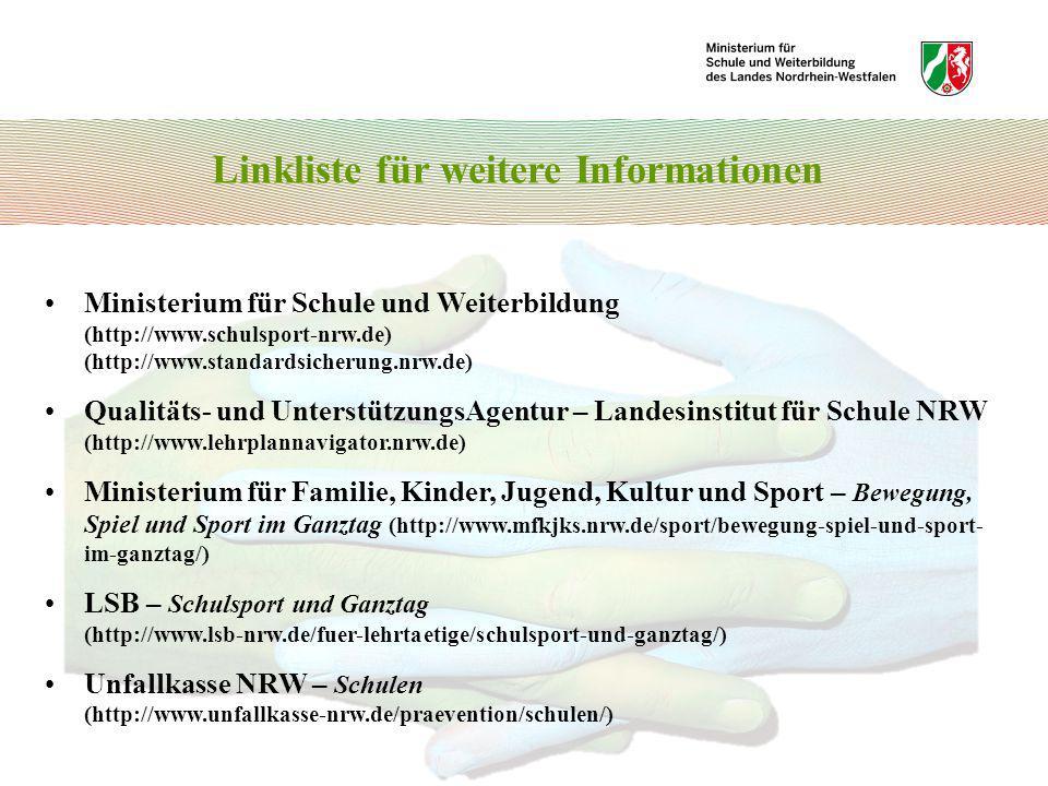 Linkliste für weitere Informationen