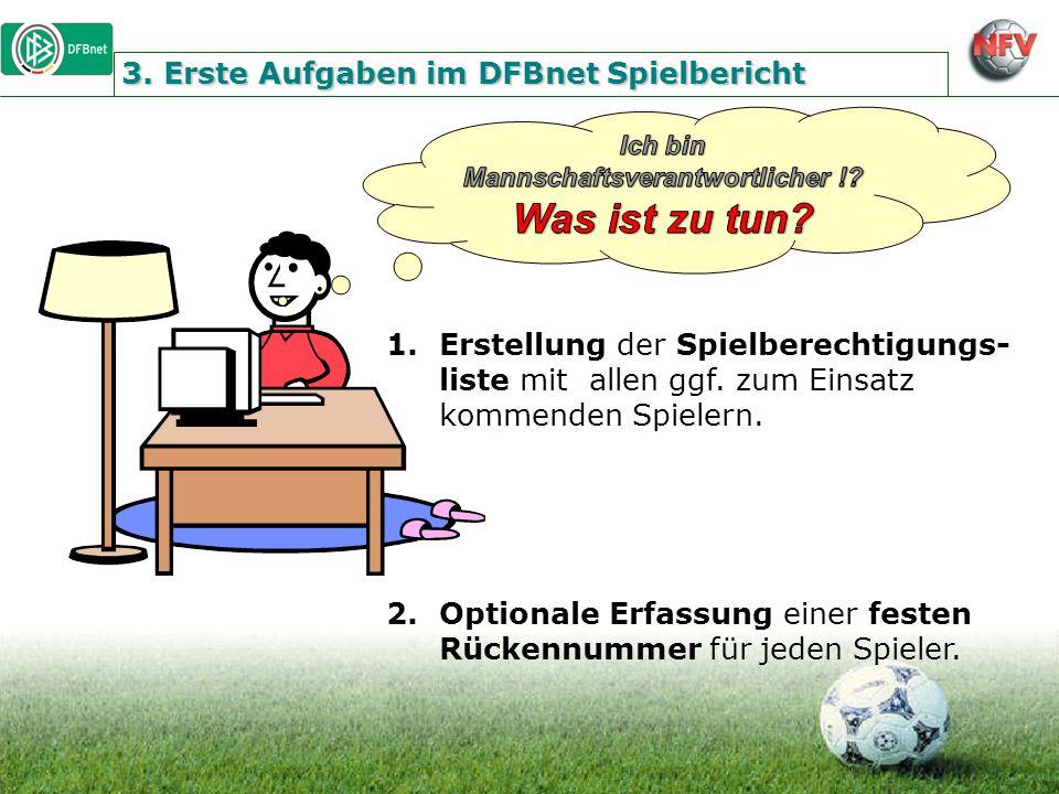 3. Erste Aufgaben im DFBnet Spielbericht