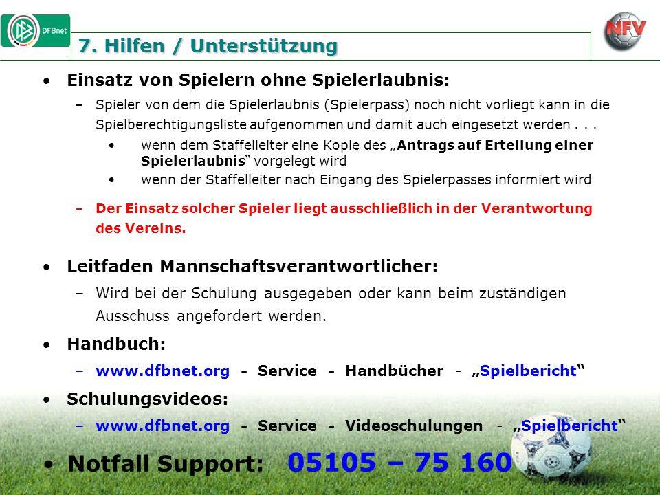 7. Hilfen / Unterstützung